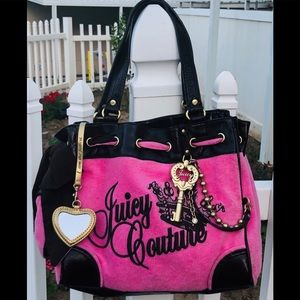 Juicy Couture pink and brown bag